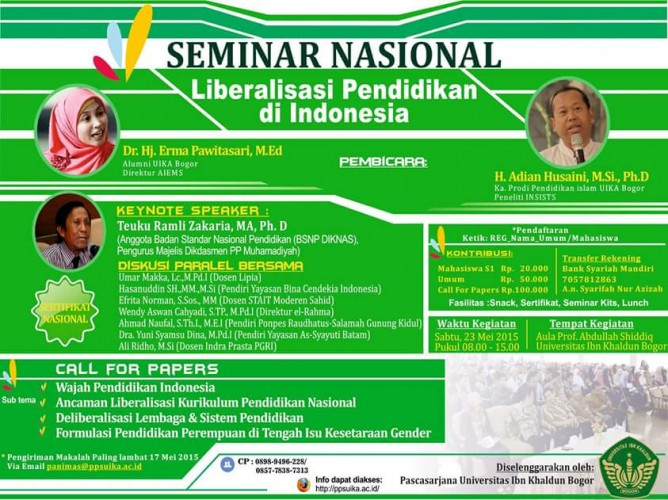 Seminar Nasional: Liberalisasi Pendidikan di Indonesia